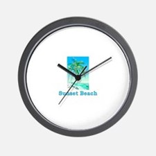 Sunset Beach, California Wall Clock