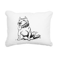Cute Sitting Pit Bull! Rectangular Canvas Pillow