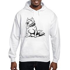 Cute Sitting Pit Bull! Hoodie