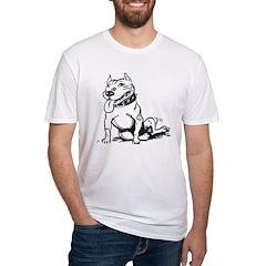 Cute Sitting Pit Bull! T-Shirt