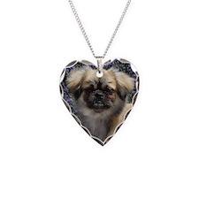 Faithful Tibetan Spaniel Necklace Heart Charm