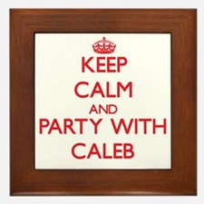 Keep Calm and Party with Caleb Framed Tile