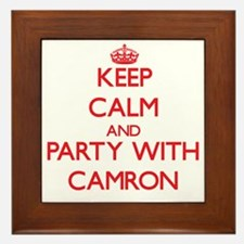 Keep Calm and Party with Camron Framed Tile