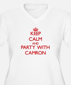 Keep Calm and Party with Camron Plus Size T-Shirt