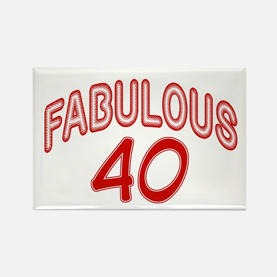 Fabulous forty Rectangle Magnet