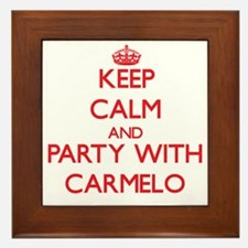 Keep Calm and Party with Carmelo Framed Tile
