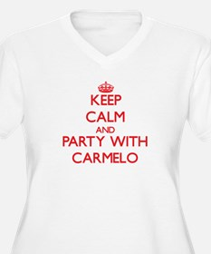 Keep Calm and Party with Carmelo Plus Size T-Shirt