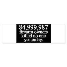 84million.rect.sticker Bumper Bumper Sticker
