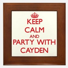 Keep Calm and Party with Cayden Framed Tile
