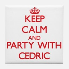 Keep Calm and Party with Cedric Tile Coaster
