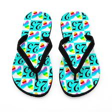 25TH BUTTERFLY Flip Flops