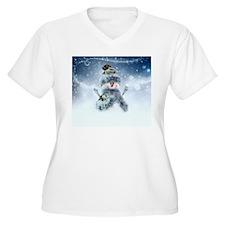 Snowmen Plus Size T-Shirt
