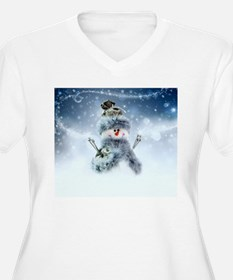 Snowmen Plus Size T-Shirt