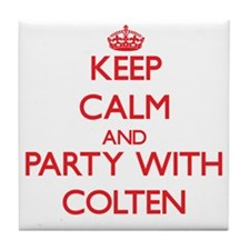 Keep Calm and Party with Colten Tile Coaster