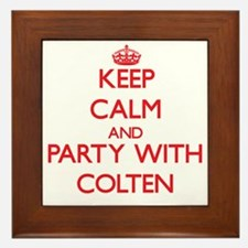 Keep Calm and Party with Colten Framed Tile