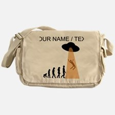 Custom Alien UFO Abduction Evolution Messenger Bag