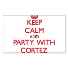 Keep Calm and Party with Cortez Decal