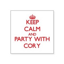 Keep Calm and Party with Cory Sticker