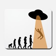 Alien UFO Abduction Evolution Mousepad