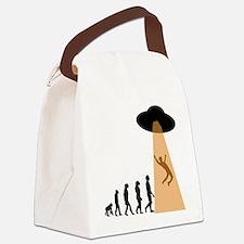 Alien UFO Abduction Evolution Canvas Lunch Bag