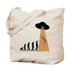 Alien UFO Abduction Evolution Tote Bag