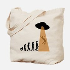 Alien UFO Abduction Evolution Tote Bag