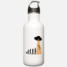Alien UFO Abduction Evolution Sports Water Bottle