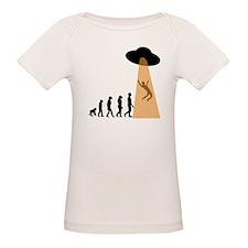 Alien UFO Abduction Evolution T-Shirt