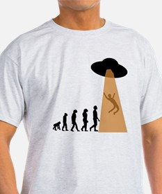 Alien UFO Abduction Evolution T-Shirt
