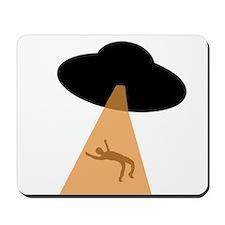 Alien UFO Abduction Mousepad