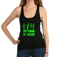 We Come In Peace Racerback Tank Top