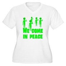 We Come In Peace Plus Size T-Shirt