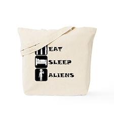Eat Sleep Aliens Tote Bag