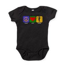 Peace Love Aliens Baby Bodysuit