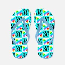 LOVELY 30TH Flip Flops