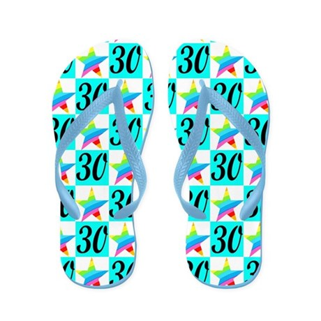 AWESOME 30TH Flip Flops
