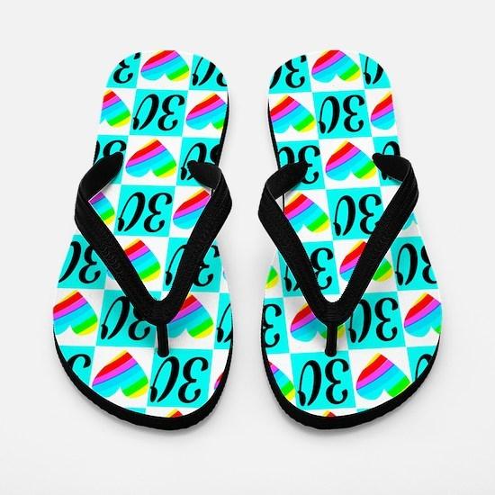 PRECIOUS 30TH Flip Flops