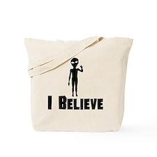 I Believe Alien Tote Bag