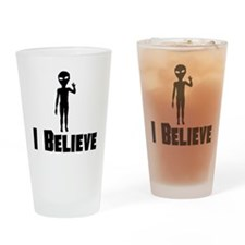 I Believe Alien Drinking Glass