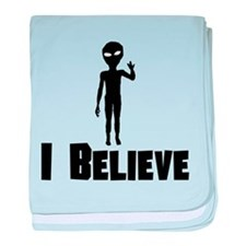 I Believe Alien baby blanket