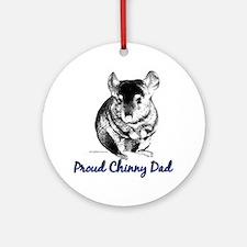 Chinny Dad Ornament (Round)