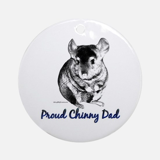 Chinny Dad Ornament (Round)