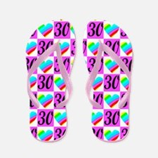 DARLING 30TH Flip Flops