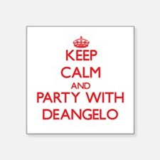 Keep Calm and Party with Deangelo Sticker