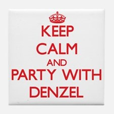 Keep Calm and Party with Denzel Tile Coaster