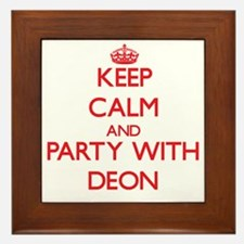 Keep Calm and Party with Deon Framed Tile