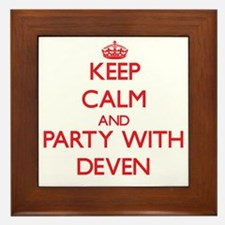 Keep Calm and Party with Deven Framed Tile