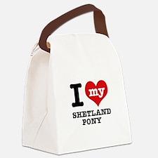 I love my Shetland Pony Canvas Lunch Bag