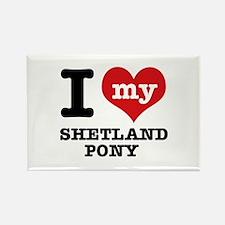 I love my Shetland Pony Rectangle Magnet