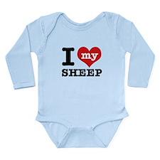 I love my Sheep Long Sleeve Infant Bodysuit
